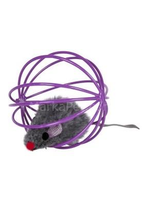 Eastland kedi oyuncağı, top içinde peluş fare 6cm