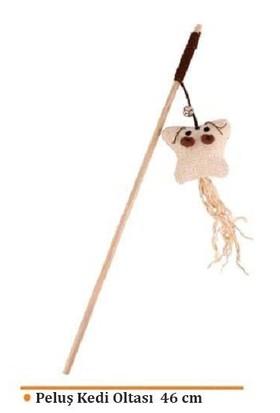 Eastland Tüylü Peluş Kedi Oltası 46 cm