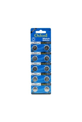 Oxford Ag13 Lr44 Sr1154 Alkaline Düğme Pil 10 Adet