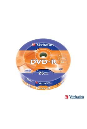 Verbatim 43808 Dvd-R 16X 4.7Gb Matt Silver (25 Li)