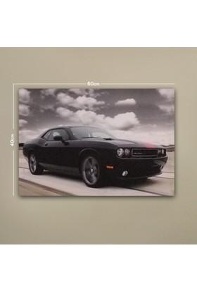 Deco Dodge Challenger Led Işıklı Tablo