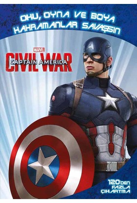 Marvel Captain America Civil War: Oku, Oyna Ve Boya, Kahramanlar Savaşsın