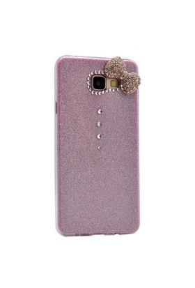 Case 4U Samsung A510 Galaxy A5 (2016) Fiyonklu Simli Silikon Kılıf Pembe