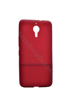 Case 4U General Mobile Gm5 Plus Matrix Desenli İnce Silikon Kılıf Bordo