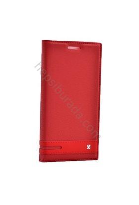 Case 4U Lenovo A6010 Gizli Mıknatıslı Kapaklı Kılıf Kırmızı