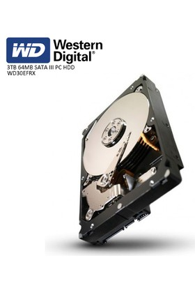 Wd 3.5 Red 3Tb 64Mb Sata3 Pc Hdd Wd30Efrx (7/24 Nas)