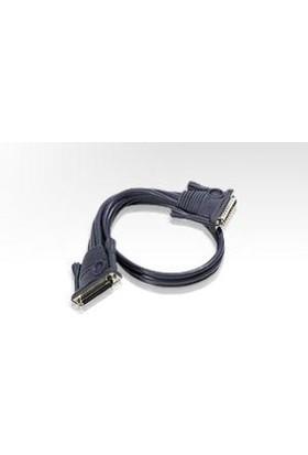 Aten Kvm (Keyboard/Video Monitor/Mouse) Switch'Ler İçin Kaskad Bağlantı Kablosu, 5 Metre, D-Sub 25 Erkek <-> D-Sub 25 Dişi