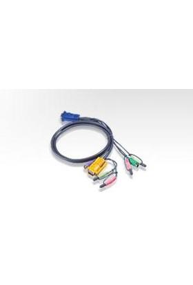 Ps/2 Kvm (Keyboard/Video Monitor/Mouse) Switch İçin Kablo, 3 Metre, 1 X Sphd-15 Erkek, 2 X Audio Yuvası <-> 1 X Monitör 15 Pin Hdb Erkek, 1 X Klavye 6 Pin Mini-Din Erkek, 1 X Mouse 6 Pin Mini-Di