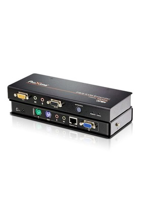 Vga Kvm (Keyboard/Video Monitor/Mouse) Mesafe Uzatma Cihazı, Ses (Hoparlör Ve Mikrofon) Bağlantı Desteği, 150 Metre, Ps/2 Konsol, Esd Ve Gerilimdeki Ani Yükselmelere Karşı Korumalı