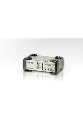2 Port'Lu Usb Kvm (Keyboard/Video Monitor/Mouse) Switch, Mikrofon Ve Hoparlör Bağlantısı Mevcut + 2 Port&#039:Lu Usb (2.0) Hub, Masaüstü Tip, Kvm Bağlantı Kablosu Ürün Beraberinde Gelmektedir