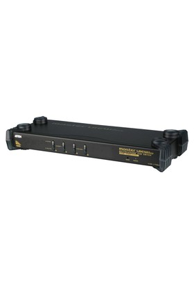 4 Port Ps/2-Usb Vga Kvm (Keyboard/Video Monitor/Mouse) Switch, Mikrofon Ve Hoparlör Bağlantısı Mevcut