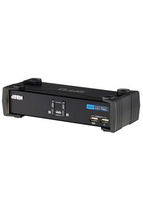 2 Port&#039:Lu Usb 2.0 Dvı Kvmp™ Switch + 2 Port&#039:Lu Usb (2.0) Hub, Masaüstü Tip, Kvm Bağlantı Kablosu Ürün Beraberinde Gelmektedir