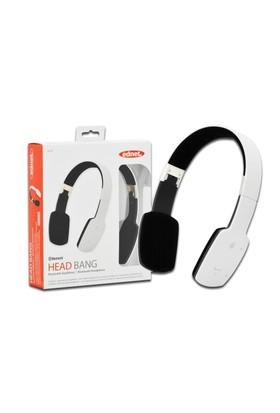 "Ednet Katlanabilir Bluetooth Kulaklık (Ednet Bluetooth ""Head Bang"" Headphone), Beyaz Renk"