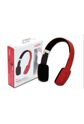 "Ednet Katlanabilir Bluetooth Kulaklık (Ednet Bluetooth ""Head Bang"" Headphone), Kırmızı Renk"