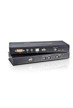 Vga Kvm (Keyboard/Video Monitor/Mouse) Mesafe Uzatma Cihazı, Ses (Hoparlör Ve Mikrofon) Bağlantı Desteği, 250 Metre, Usb Konsol, Esd Ve Gerilimdeki Ani Yükselmelere Karşı Korumalı