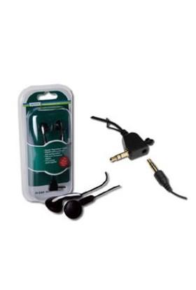 Digitus Yüksek Kaliteli Stereo Kulaklık, Paralel Kulaklık Bağlantısı İçin İlave Jacklı