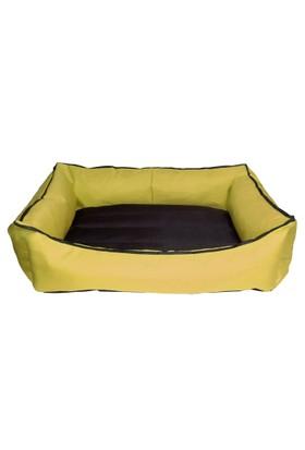 Bronza Su Geçirmez Kedi-Köpek Yatağı No: 5 90x100x15 Sarı