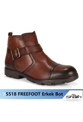 Freefoot 5518 Kahve Hakiki Deri Garantili Kışlık Erkek Bot