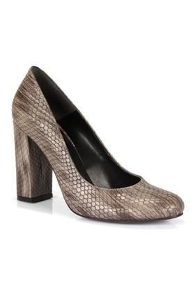 Shalin Vizon Kalın Topuk Baskılı Kadın Ayakkabı