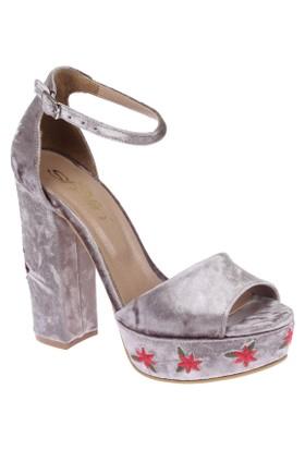 Shalin Şhk 501 Vizon Nakış Bayan Topuklu Sandalet