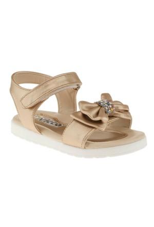 Vicco 321U778 Fiyonk Toka Cirtli Altın Çocuk Sandalet