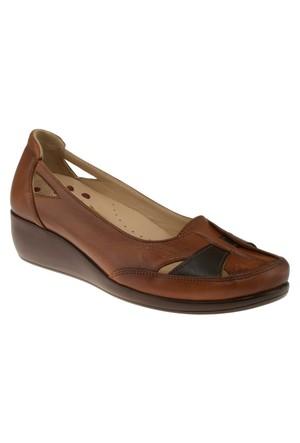 Kawest 620Y642 Gecme Bantli Taba Kadın Ayakkabı