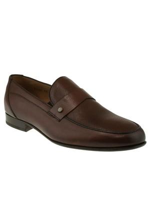 Burç 2424 Mokasen Igne Baski Klasik Taba Erkek Ayakkabı
