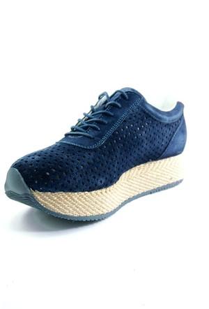 Sofistiqe Lacivert Süet Sneaker