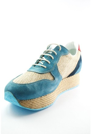Sofistiqe Mavi Süet Sneaker