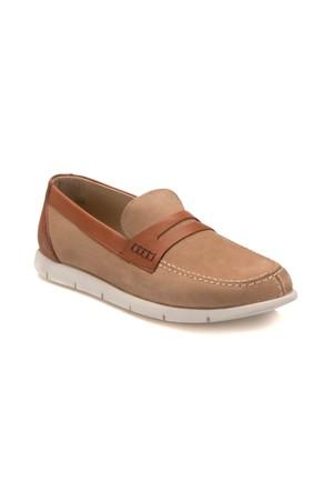 Flogart Erg-5000 M 6683 Kum Rengi Erkek Nubuk Deri Modern Ayakkabı
