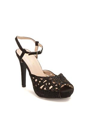 Butigo F18058 Siyah Kadın Sandalet