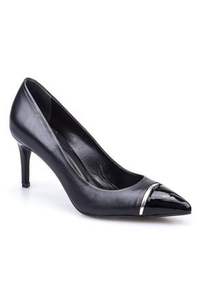 Cabani Sivri Burun Günlük Kadın Ayakkabı Siyah Rugan