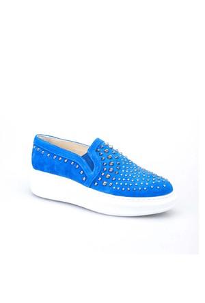 Cabani Zımbalı Sneaker Kadın Ayakkabı Mavi Süet