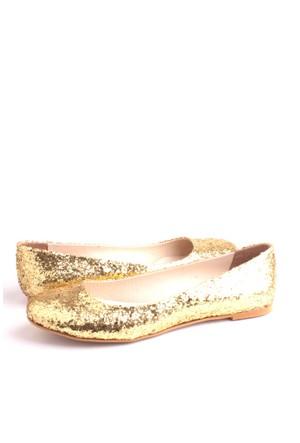 Loggalin 222001 726 Kadın Altın Simli Babet