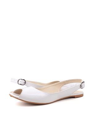 Loggalin 333001 031 468 Kadın Beyaz Sandalet