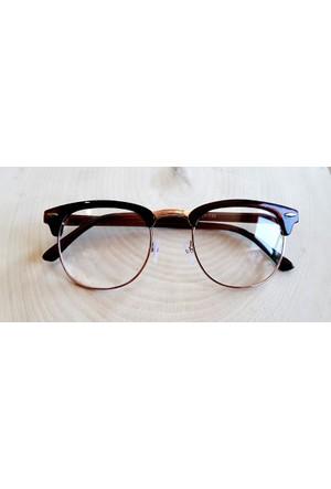 Köstebek Kahverengi Saplı Gold Çerçeveli Gözlük Kgz067