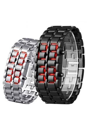BuldumBuldum İron Samurai Watch - Led Kol Saati - Gümüş Renkli