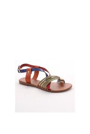 Gio&Mi Renkli Sandalet V26