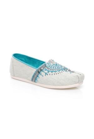 Toms Beaded Embroidery 10008010.Grey Ayakkabı
