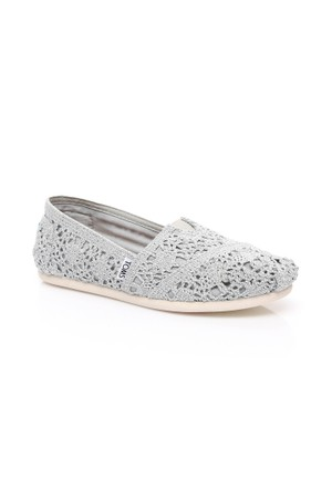 Toms Crochet Wm Alpr Esp 10008028.Silver Ayakkabı