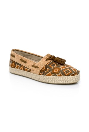 Toms Cognac Printed Cork Wm Hi Rope Esp 10007811.Brown Ayakkabı