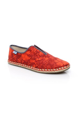 Toms Multi Canvas Hibiscus Wm Palm Slipon 10007900.Red Ayakkabı