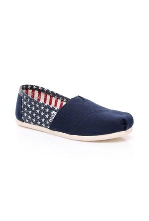 Toms Americana Stars Wm Alpr Esp 10007993.Navy Ayakkabı