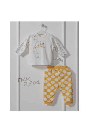 Caramell TKK2761 Sarı Puan 2 li Bebek Takım