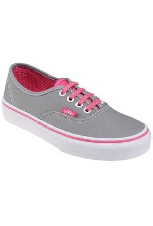 Vans Authentic Gri Pembe Erkek Çocuk Sneaker Ayakkabı