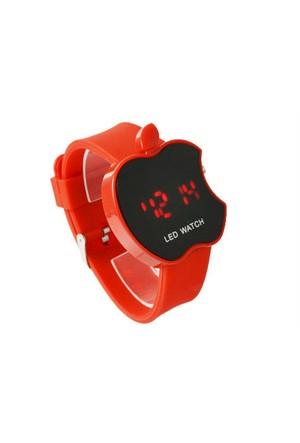 Toptancı Kapında Apple Dijital Led Bileklik Kol Saati - Kırmızı