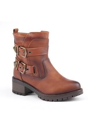 Jump 14369-F Günlük Fermuarlı Termo Taban Kadın Bot Ayakkabı