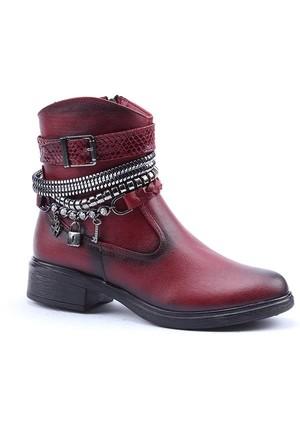 Jump 12316-D-E Günlük Fermuarlı Taban Termo Kadın Bot Ayakkabı