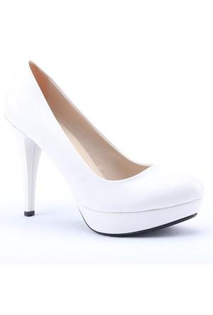 Ages 2001 Platform Topuk Rugan 11 Cm Abiye Kadın Ayakkabı