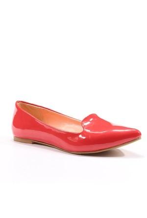 Asm Günlük Stiletto Rugan Kadın Babet Ayakkabı